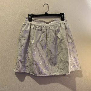 Copper Key Silver/Ivory Metallic Skirt